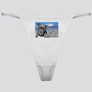 Dogs for Obama Classic Thong