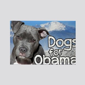 Dogs for Obama Rectangle Magnet