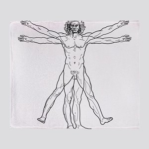 Vitruvian Man Throw Blanket
