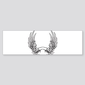 Banner and Wings Sticker (Bumper)