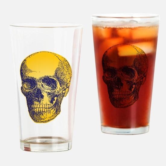 Yellow Skull Drinking Glass