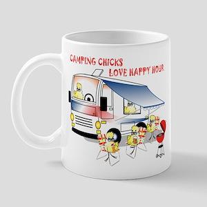 Camping Chicks Mug