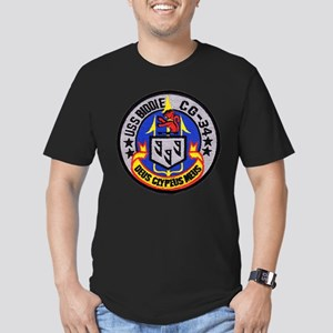 USS BIDDLE Men's Fitted T-Shirt (dark)