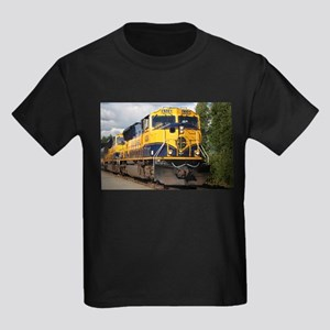 Alaska Railroad engine Kids Dark T-Shirt