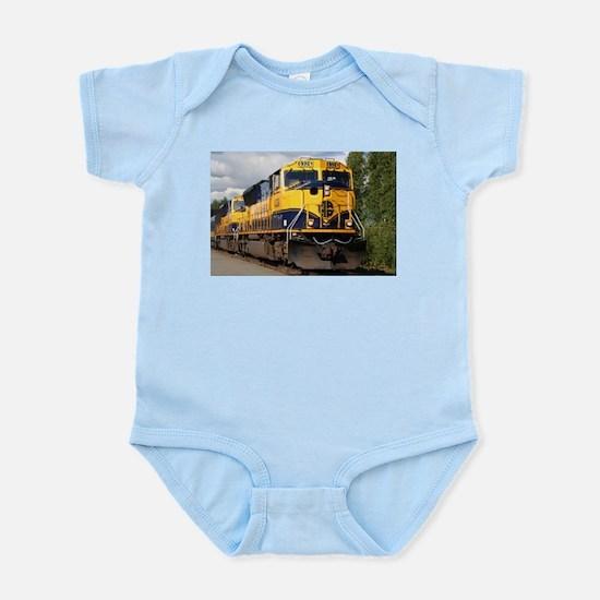 Alaska Railroad engine Infant Bodysuit