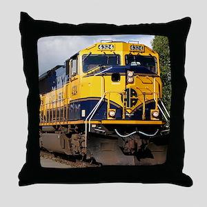 Alaska Railroad engine Throw Pillow