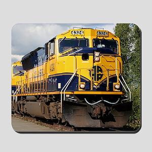 Alaska Railroad engine Mousepad