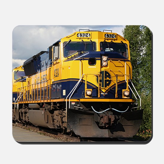Alaska Railroad engine Mousepad