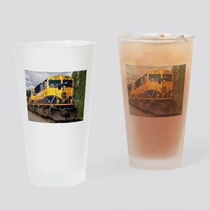 Alaska Railroad engine Drinking Glass