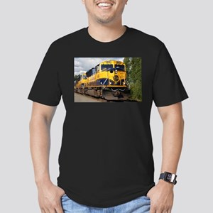 Alaska Railroad engine Men's Fitted T-Shirt (dark)