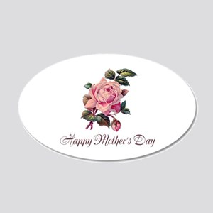 Mother's Rose 20x12 Oval Wall Decal