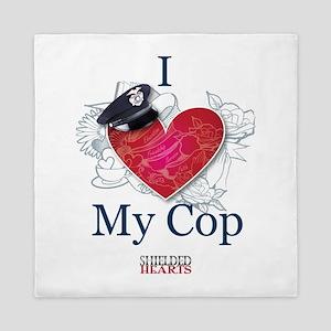 I Love My Cop Queen Duvet
