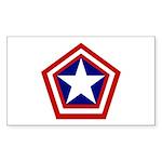 General America Sticker (Rectangle 50 pk)