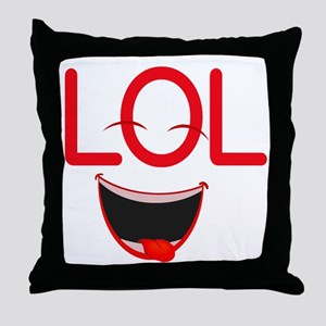 LOL laugh out loud Throw Pillow