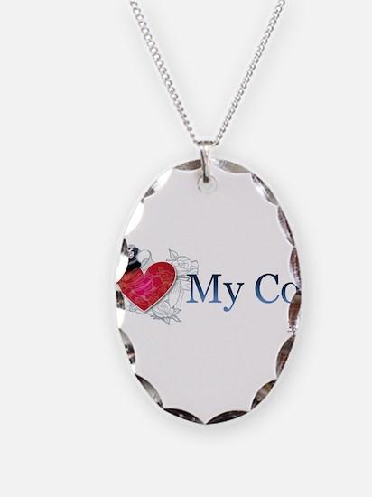 I Love My Cop - Horizontal Necklace