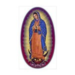 8  Lady of Guadalupe Sticker (Rectangle 10 pk)