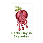 Earthday is Everyday Sticker (Rectangle 10 pk)