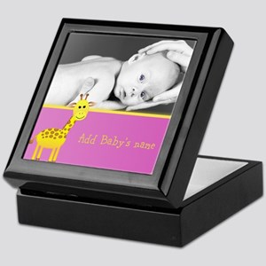 Giraffe Baby Photo Keepsake Box