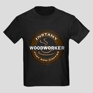 Instant Woodworker Coffee Kids Dark T-Shirt