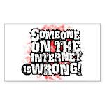 wrong_white Sticker (Rectangle 50 pk)