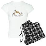 fawn-tastic 1 crop Women's Light Pajamas