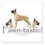 "fawn-tastic 1 crop Square Car Magnet 3"" x 3"""