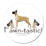 fawn-tastic 1 crop Round Car Magnet