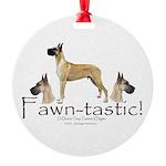 fawn-tastic 1 crop Round Ornament