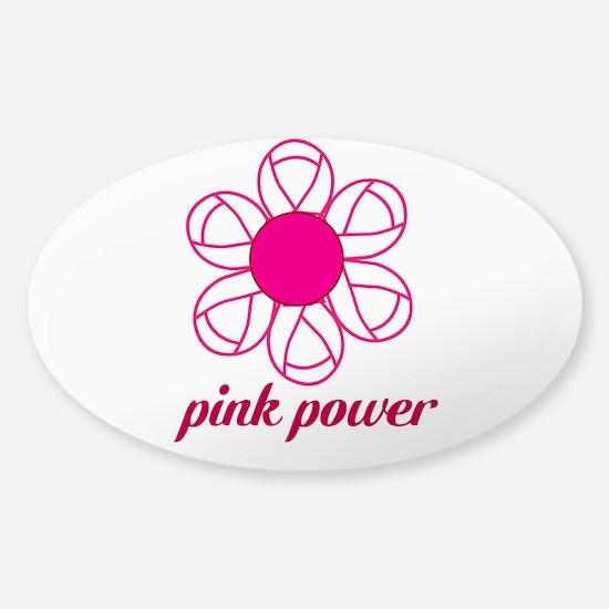 Pink Power Sticker (Oval)
