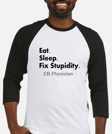 Eat sleep ER doc Light shirts.PNG Baseball Jersey