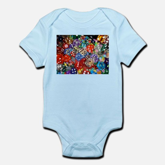 Lets Roll - Colourful Dice Infant Bodysuit