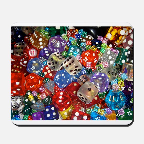 Lets Roll - Colourful Dice Mousepad