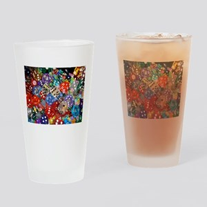 Lets Roll - Colourful Dice Drinking Glass