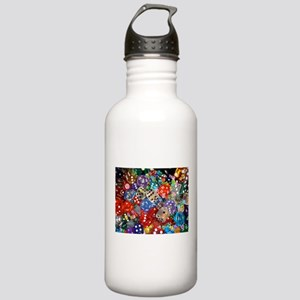 Lets Roll - Colourful Dice Stainless Water Bottle