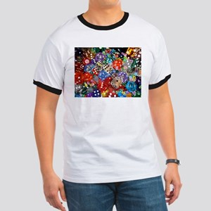 Lets Roll - Colourful Dice Ringer T