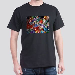Lets Roll - Colourful Dice Dark T-Shirt