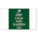 Keep Calm and Garden On Sticker (Rectangle 10 pk)