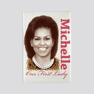 Michelle Obama Rectangle Magnet