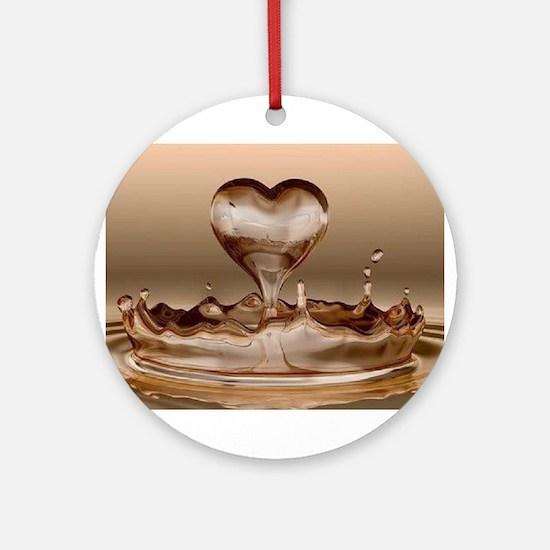 Heart drop Ornament (Round)