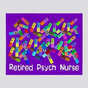 Retired Psych nurse Purple Blanket Stadium Bl