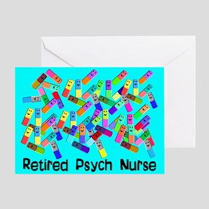 Retired Psych Nurse BLUE BLANKET Greeting Card