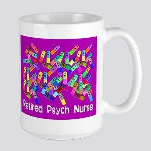 Retired Psych Nurse FUSCHIA LARGE Large Mug