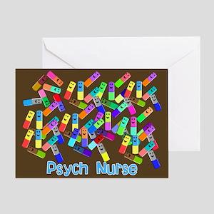 Psych Nurse Blanket Size Greeting Card