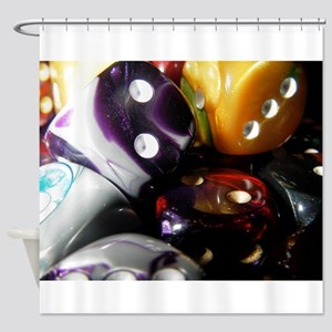 Lets Roll - Dice Art Shower Curtain