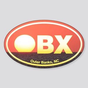 OBX Outer Banks Sunset Sticker (Oval)