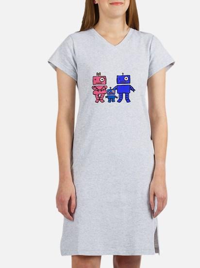 Robot Family Women's Nightshirt