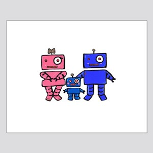 Robot Family Small Poster