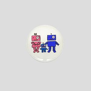 Robot Family Mini Button