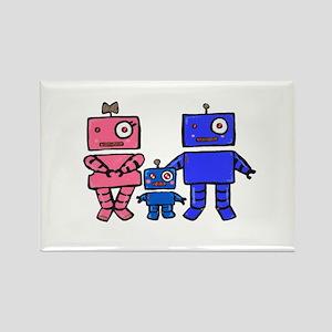 Robot Family Rectangle Magnet
