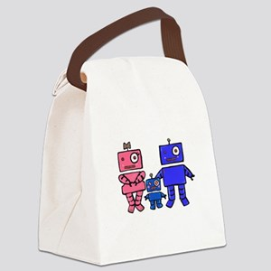 Robot Family Canvas Lunch Bag